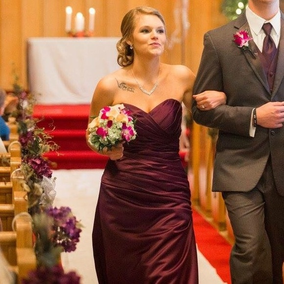 Mori Lee Dresses | Eggplant Purple Miri Lee Bridesmaid Dress | Poshmark